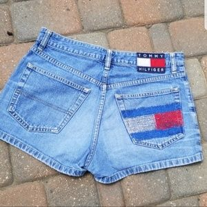 Vintage Tommy Hilfiger Red,White,& Blue Shorts